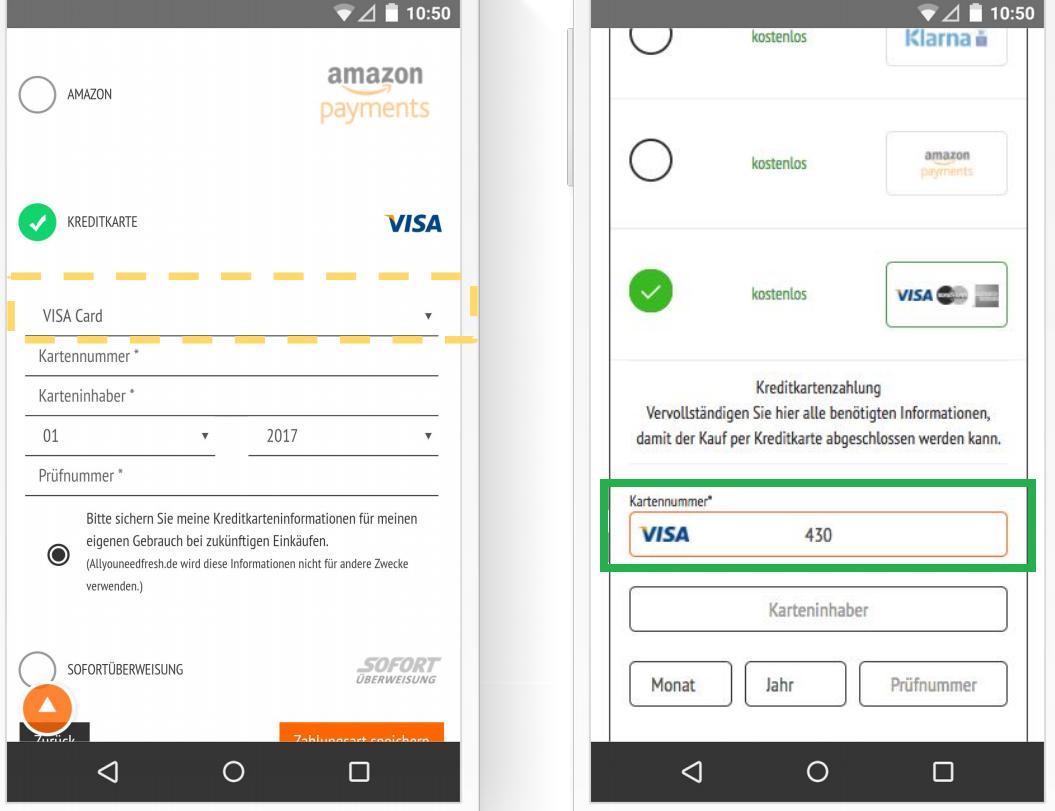 Автоматическое определение типа кредитной карты