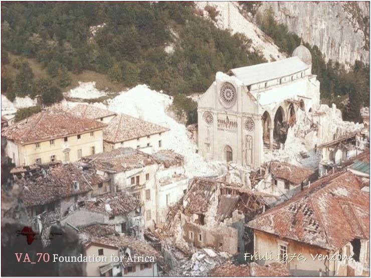 Terremoto del Friuli (maggio 1976). La distruzione di Venzone e del suo Duomo. Il Duomo di Venzone venne poi ricostruito esattamente com'era con le stesse pietre che all'epoca furono meticolosamente numerate per essere rimesse esattamente dove erano.