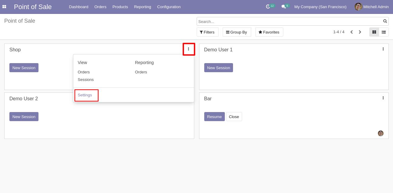 Navigate to POS settings to configure POS Divine theme.
