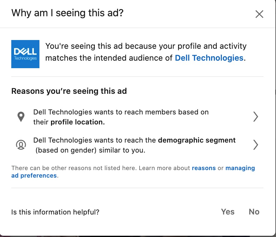 Linkedin video ads competitor tactic