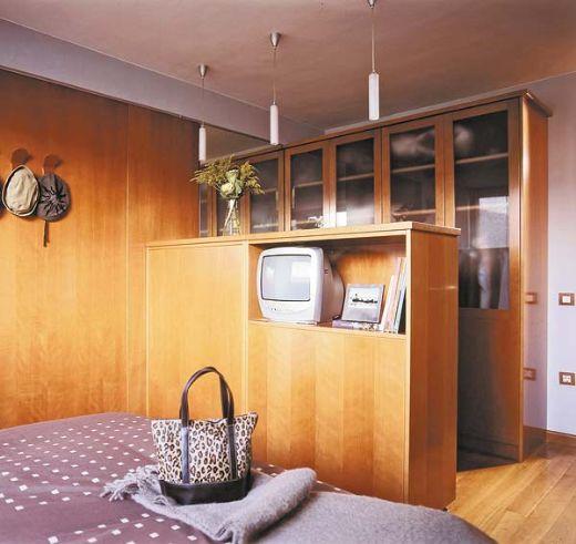 Phòng thay đồ trong phòng ngủ hài hòa