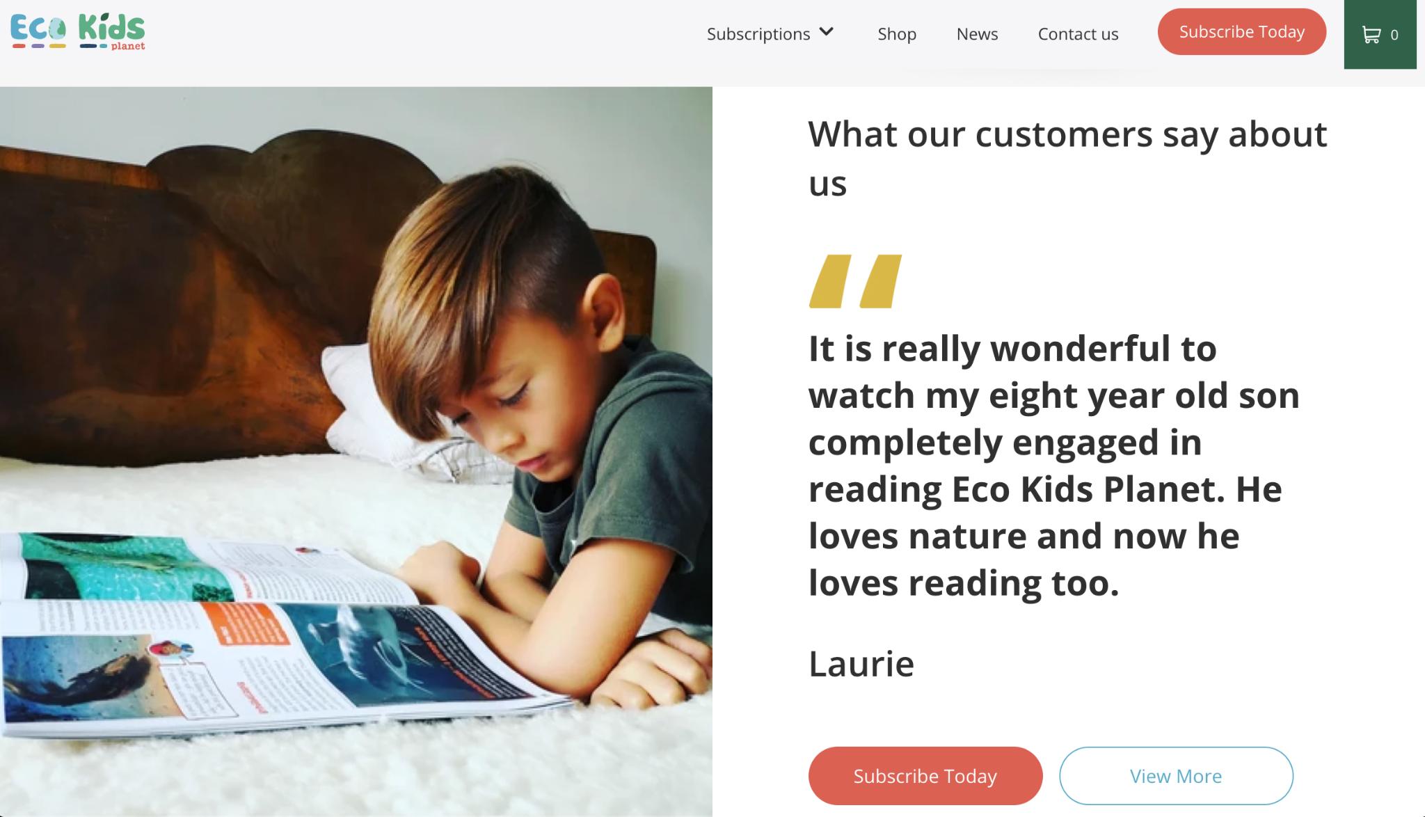 Eco Kids Planet Customer Testimonial