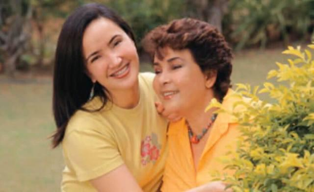 TOGETHER NOW. Alfonso Martinez confirms that grandmother Amalia Fuentes (right) has died on October 5. Photo shows the late actress with her daughter Liezl, who died in 2015. Photo from Facebook/Alfonso Martinez