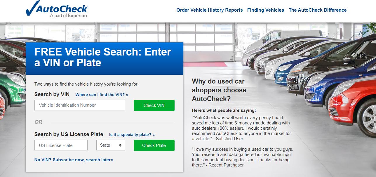 autocheck отчет по истории авто
