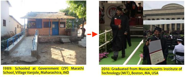 Sunil Khandbahale graduated from Massachusetts Institute of Technology (MIT) in 2016