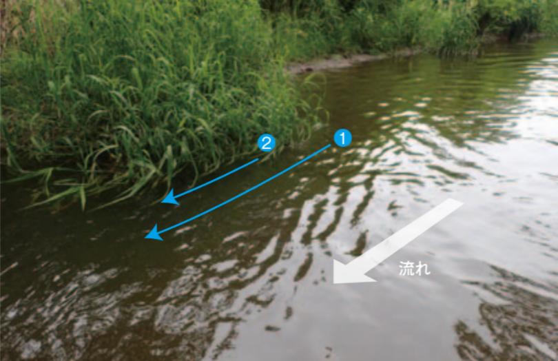 フラットサイドミノーの流し方 引き方を写真で解説!