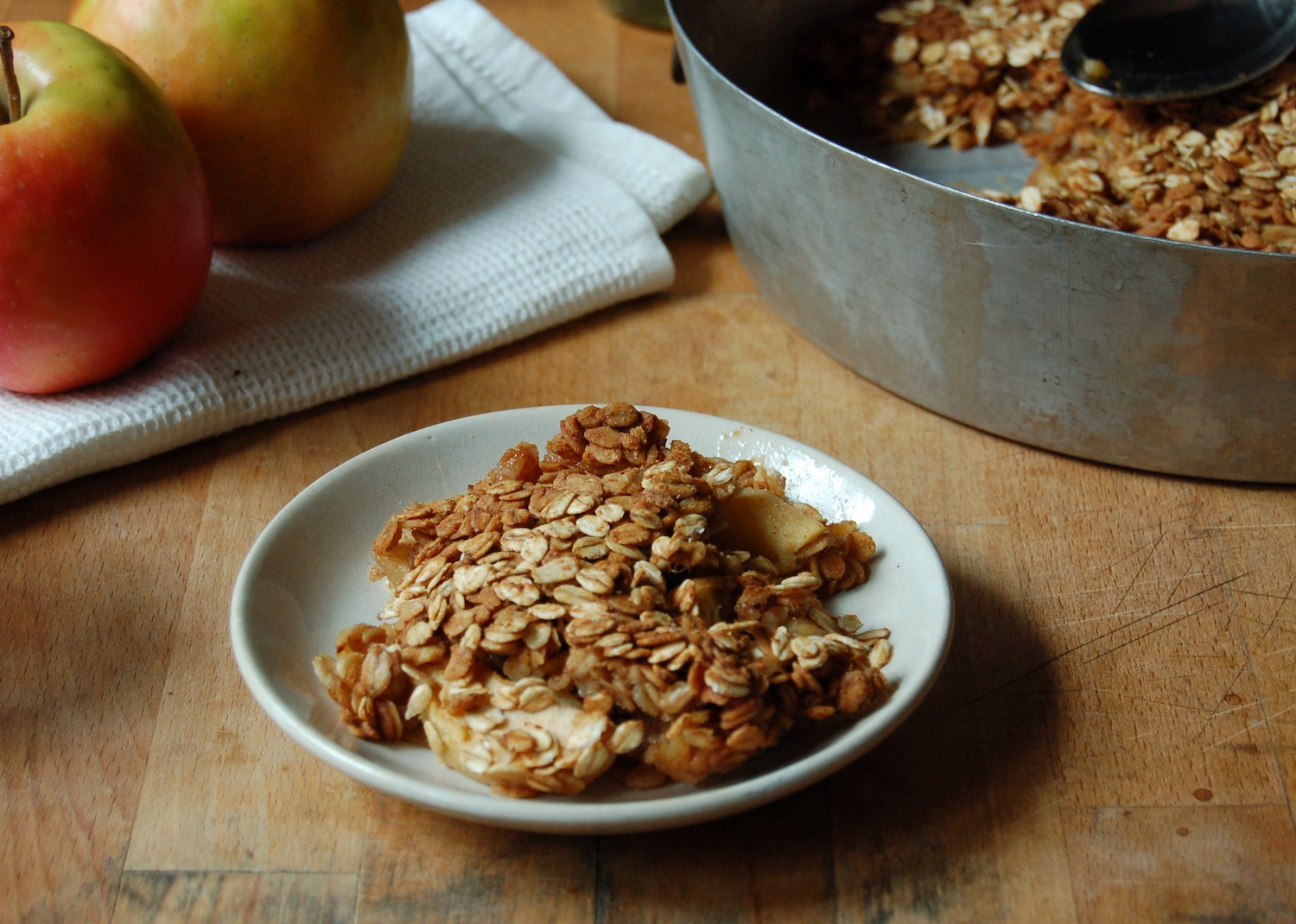 ... steaming hot baked oatmeal filled with protein, fibers and good carbs