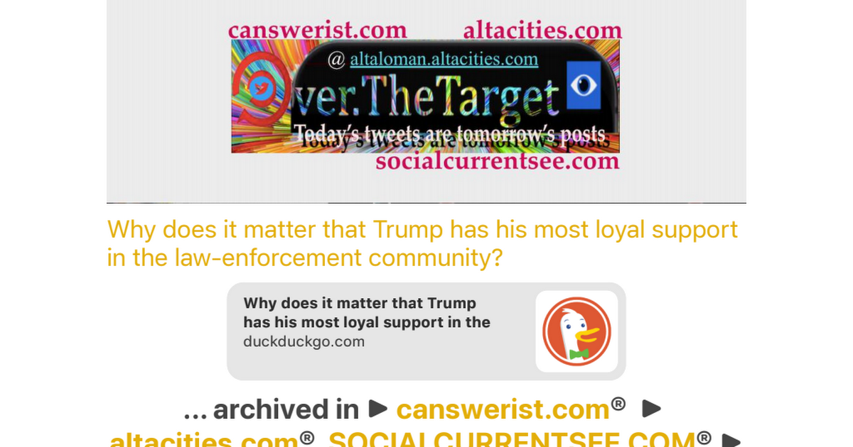 Why does it matter that Trump has his most loyal support in the law….pdf