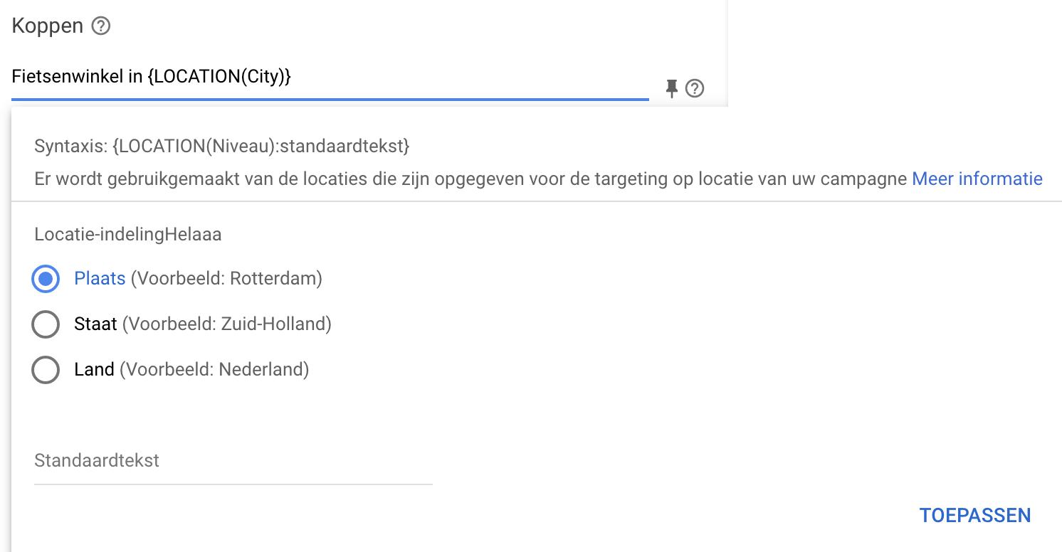Locatie-extensies responsieve zoekadvertenties