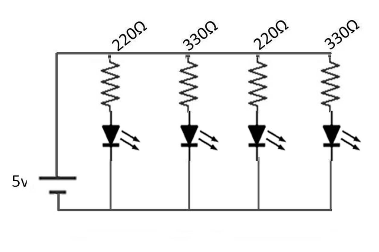 Circuito Hidraulico Mixto : Como elaborar un circulo de paralelo con una protoboard