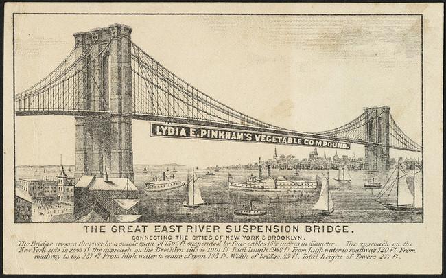 Một hình ảnh quảng cáo về sản phẩm của bà được treo trên bờ sông Đông cuối những năm 1800.
