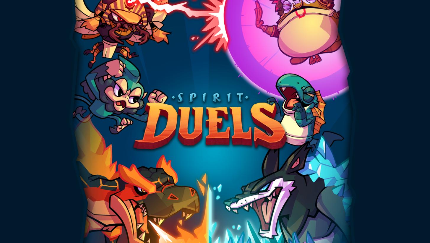 Spirit Duels landing page imagery