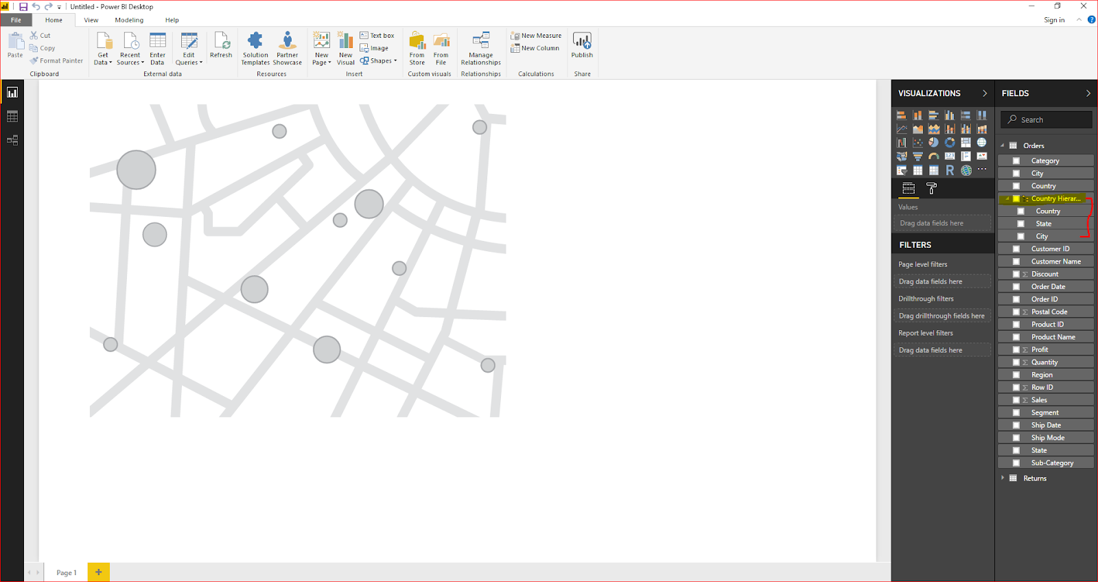 Maps & Hierarchy in Microsoft Power BI 33