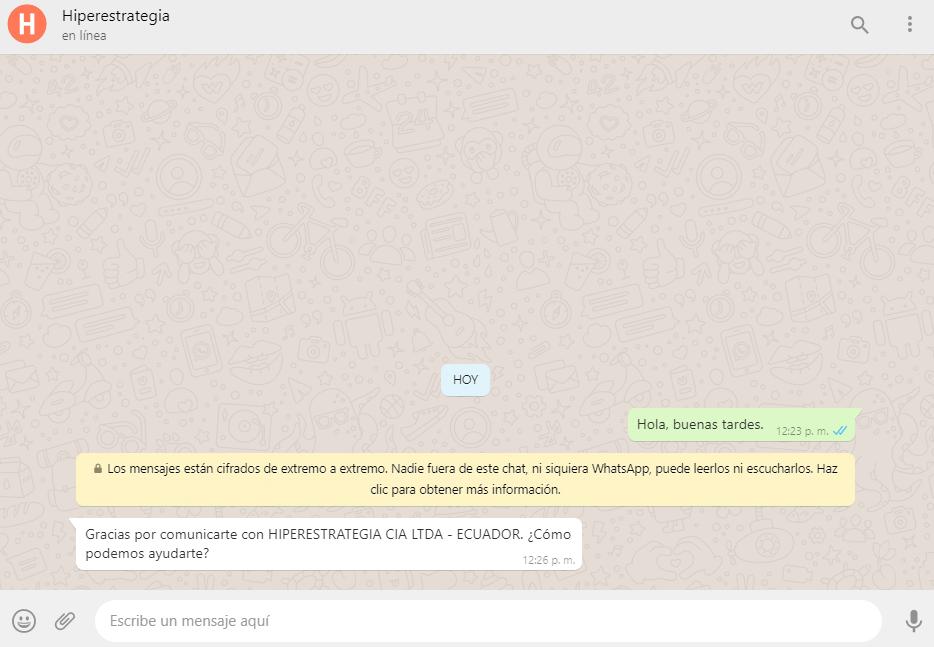 Whatsapp Business Msj Automático