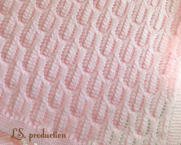 Ажурный узор для вязания детского пледа спицаи