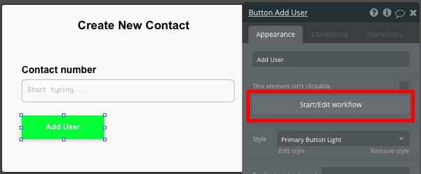 Criando um novo contato no aplicativo tipo whatsapp