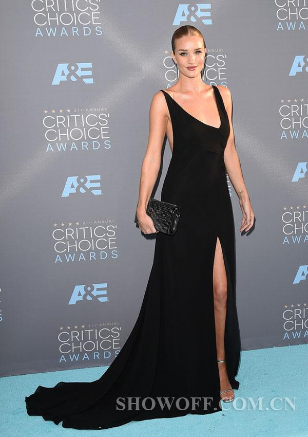 Model Ready For The Critics Choice Awards Pose