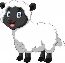 Cartoon funny sheep a smile | Premium Vector
