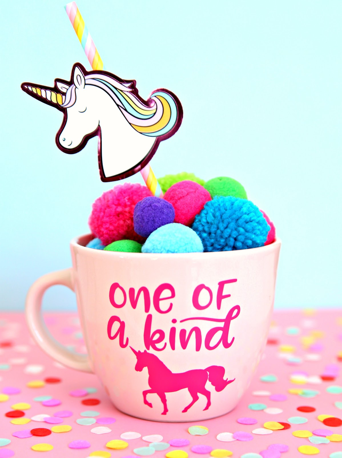 Customize a mug for your little unicorn with Happy Go Lucky. See all the Best Crafts of 2018 from more of your favorite bloggers at Halfpint Design.