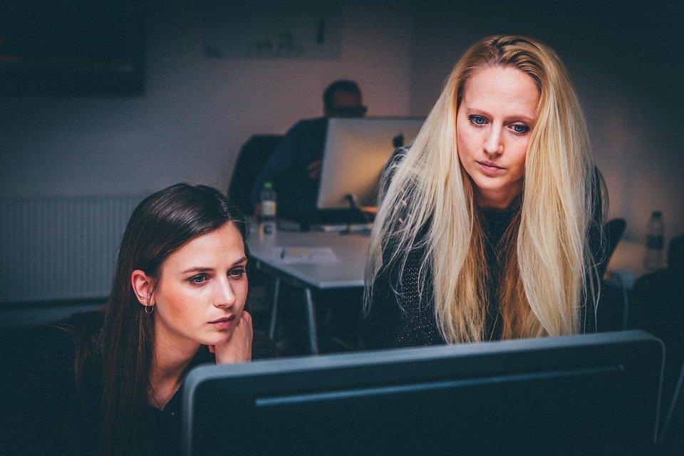 Women, Teamwork, Team, Business, People, Office