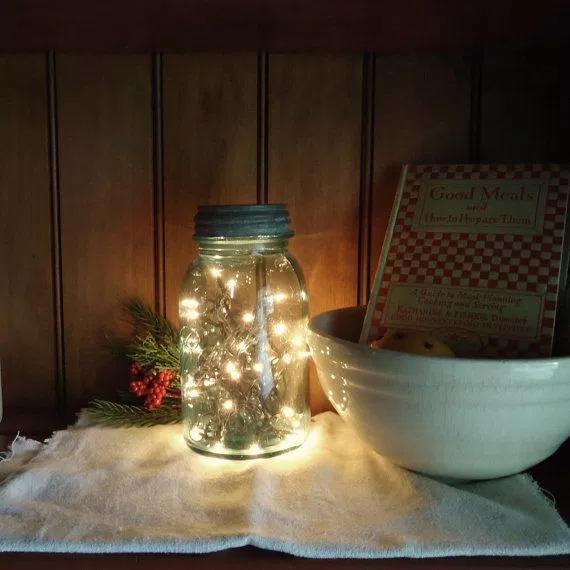maison jar fairy lights