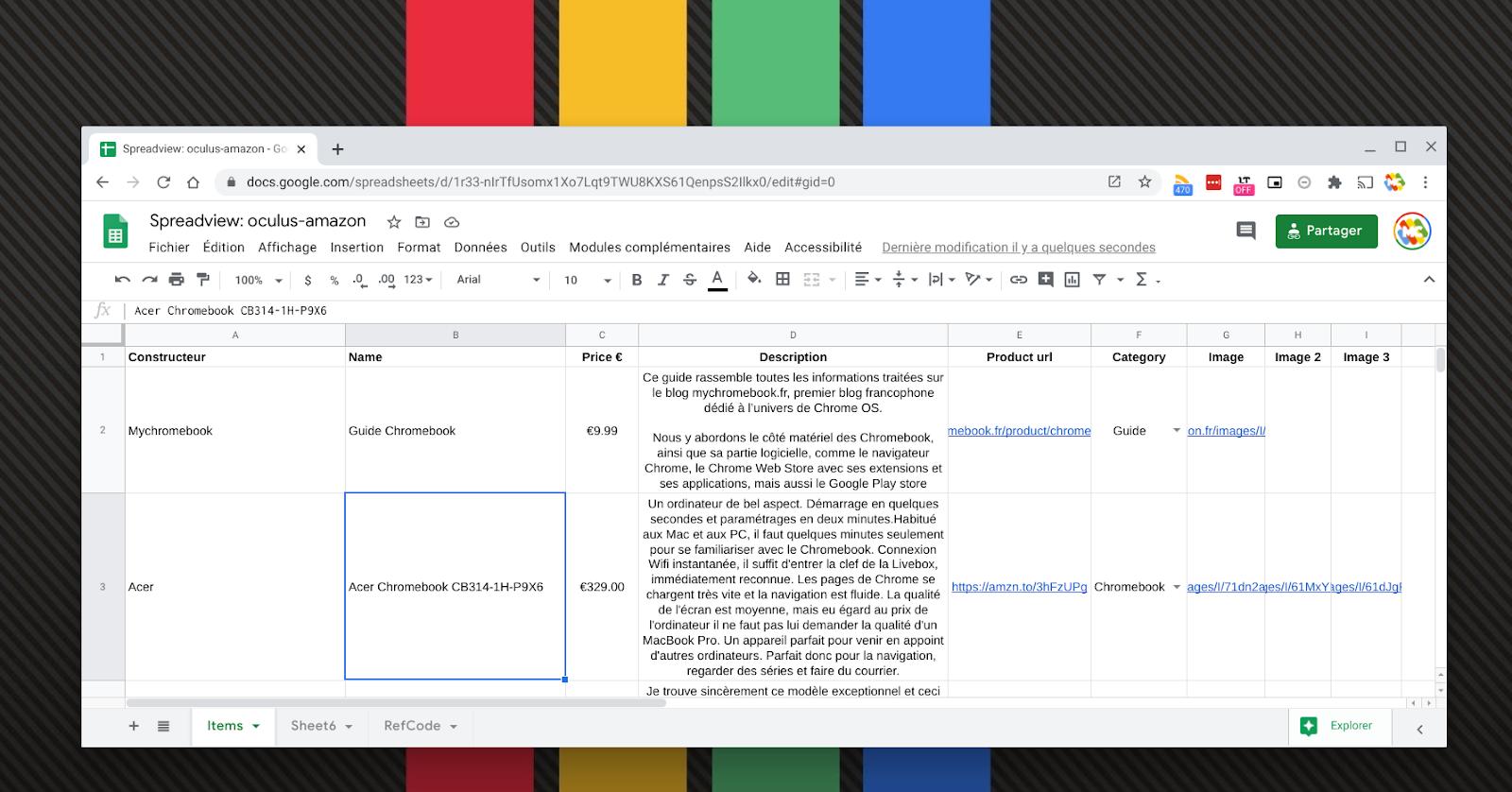 Créer une boutique en ligne en 5 minutes avec un Chromebook