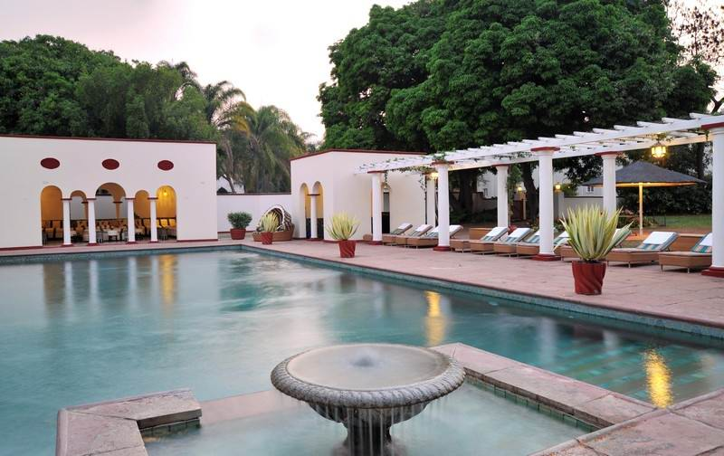 Victoria Falls Hotel swimming pool