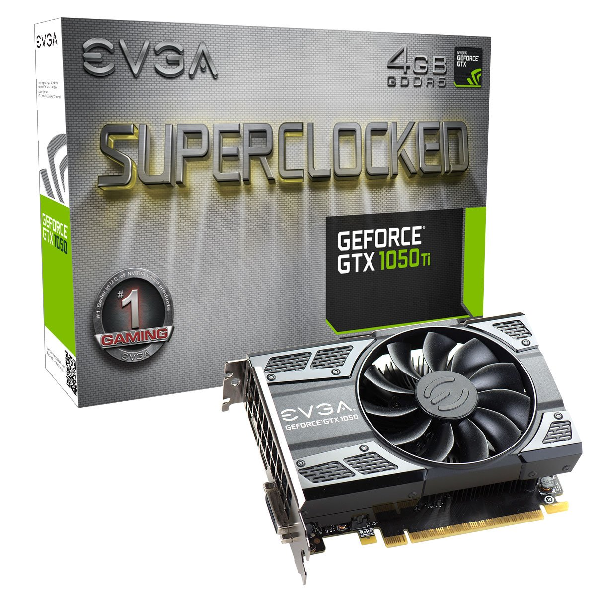 EVGA GeForce GTX 1050 Ti SC Gaming Graphics Card