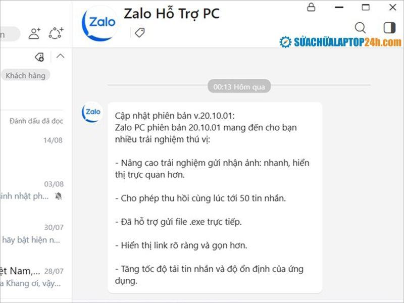 Bạn nên kiểm tra và cập nhật ứng dụng Zalo thường xuyên