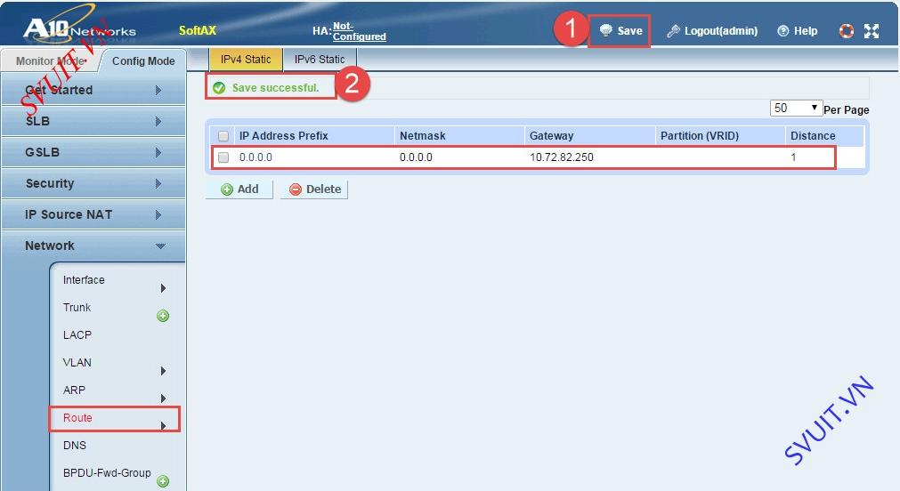 Configure A10 Networks Routed Mode (10)