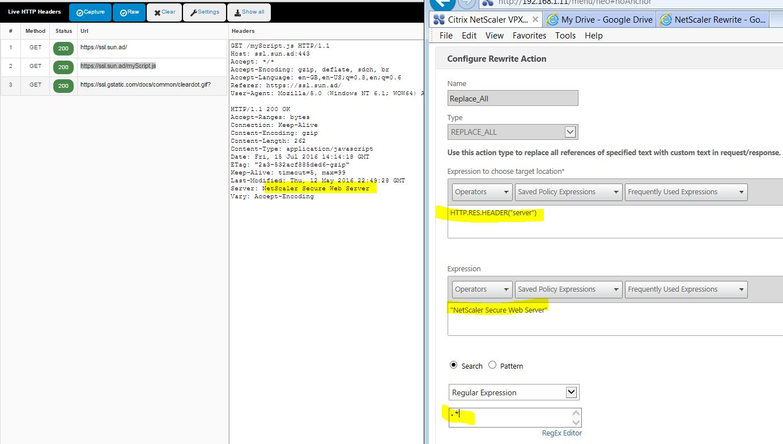 My Home Netscaler Lab: HTTP Headers and Netscaler Response