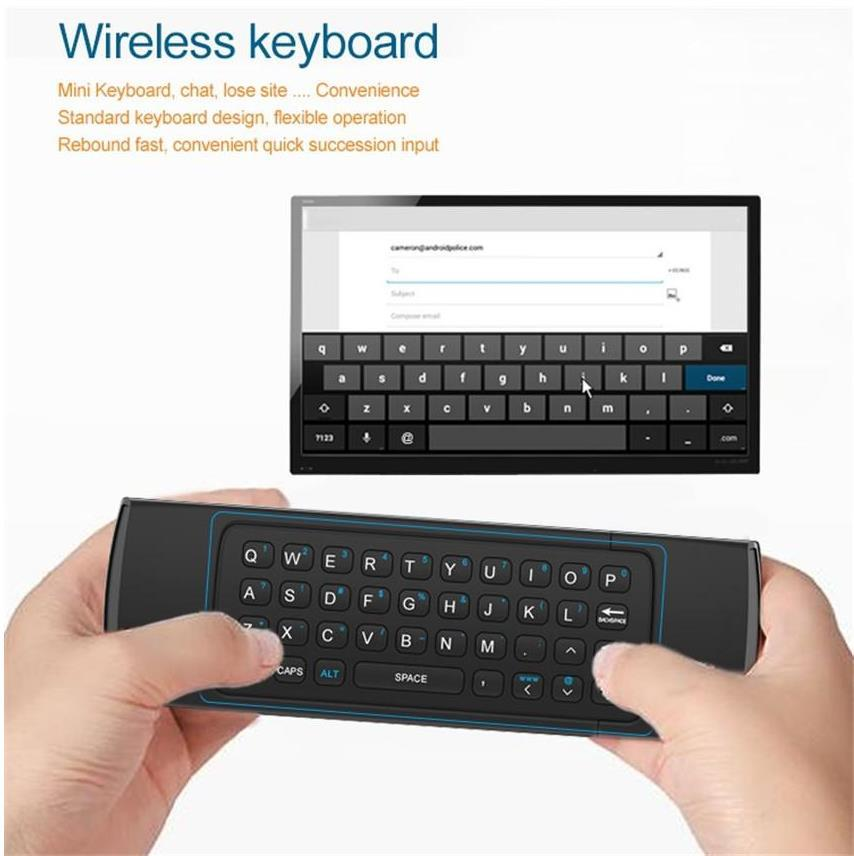 Keyboard Clavier Fly AirMouse Mini TélécommandeSouris sans fil G Sensor Capteur MIC MXQ M8S Android TV BOX www.avalonkef.com 66464.jpg