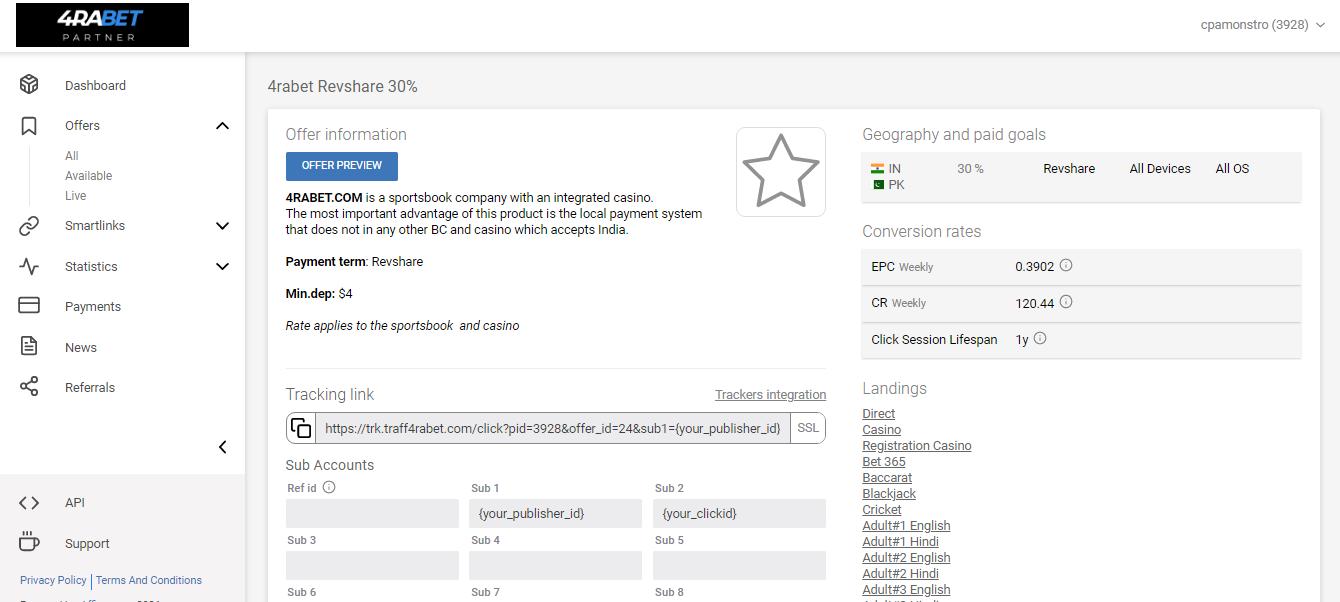 4RABET Partner: обзор прямого рекламодателя в гемблинг и беттинг вертикалях