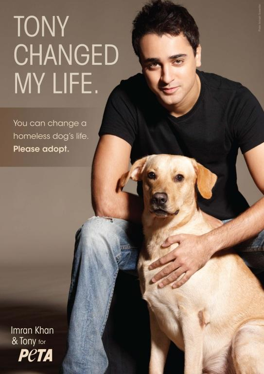 Imran khan with his dog