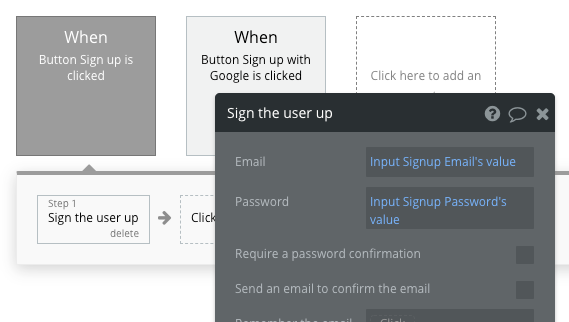 Bubble No Code User Signup Flow