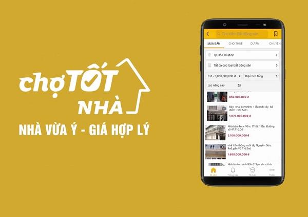 Website cho thuê nhà đất của Chợ Tốt