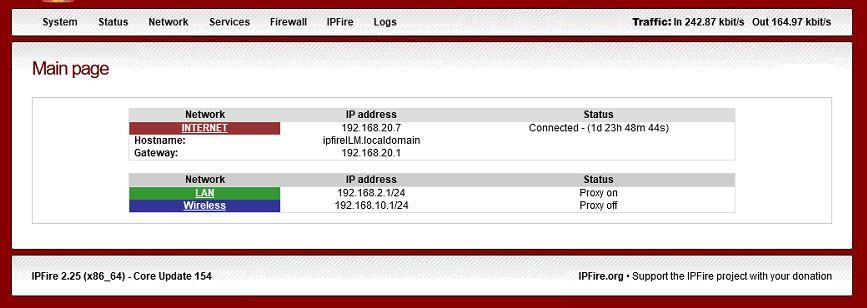 IPFire Web GUI