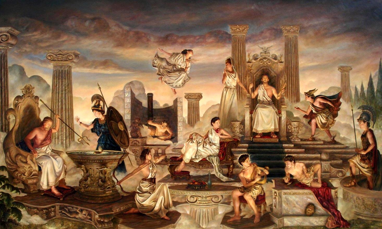Risultati immagini per greek mythology mount olympus
