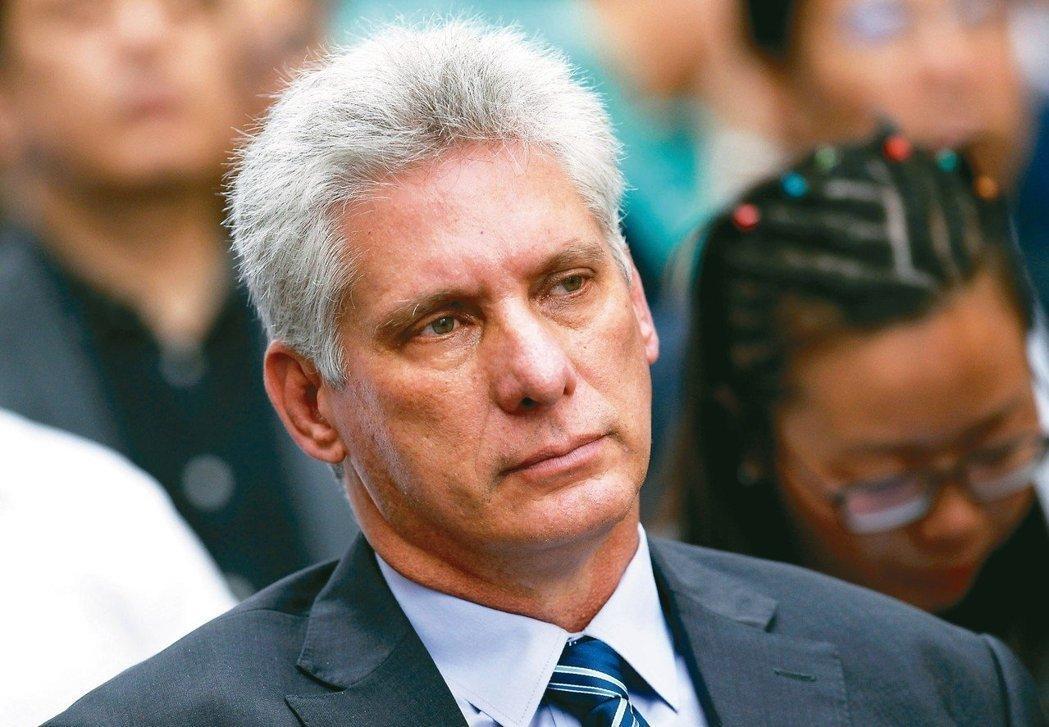古巴國務委員會第一副主席,狄亞士-卡奈。 路透