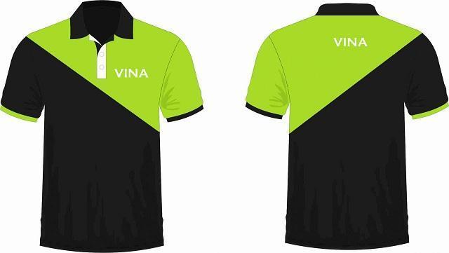 mẫu thiết kế đồng phục công ty Vina