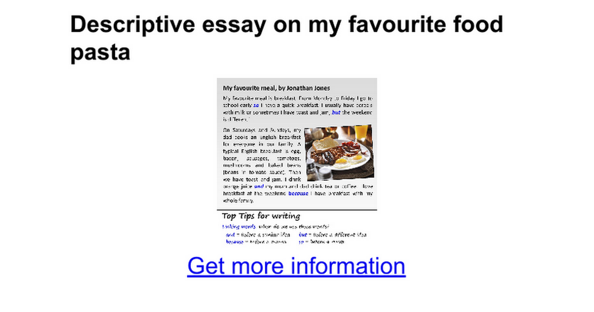 essay food essay on my favourite dish favourite food esl kids  essay on my favourite dish favourite food esl kids worksheets my descriptive essay on my favourite