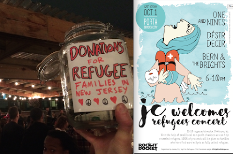 In Oct. 2016, JCVR hosted a fundraiser for resettled refugee families at Porta in Jersey City. It was a huge success.