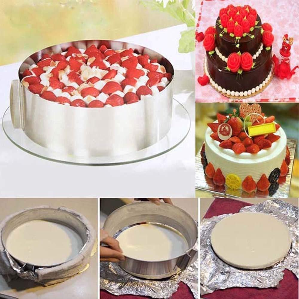 Adjustable Stainless Steel Fondant Cake Molder For The Best Chocolate Cake