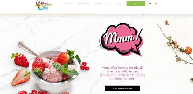 glace paysanne homepage - avada theme example