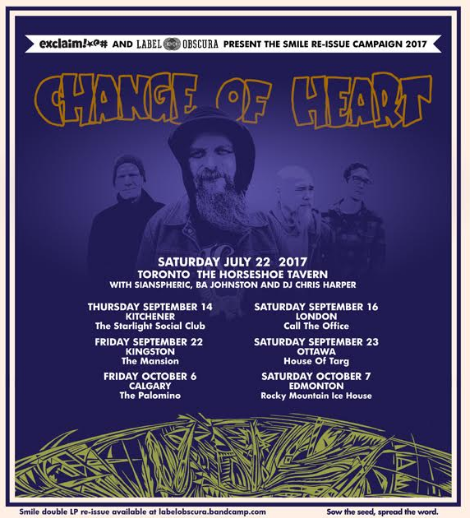 Change Of Heart tour flyer 2017