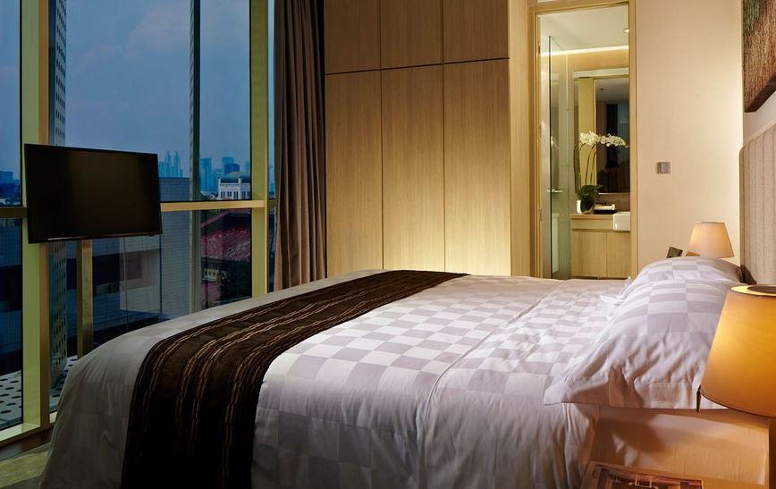 Bedroom of Fraser Residence Menteng