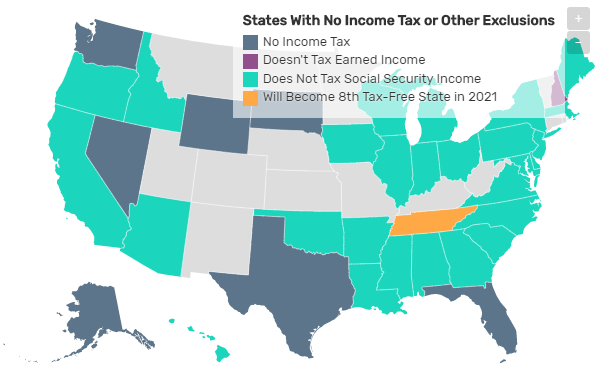 States With No Personal Income Tax Myroyalfinancial