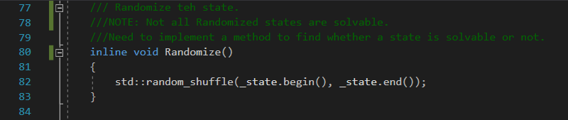 Randomize for class State in Solving the 8 puzzle problem using A* (star) algorithm