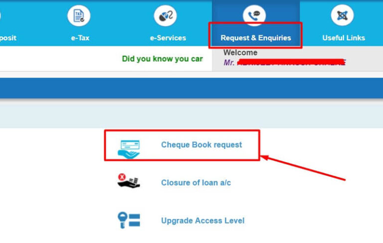 How To Apply For Sbi Cheque Book Online [Month] , [Year]