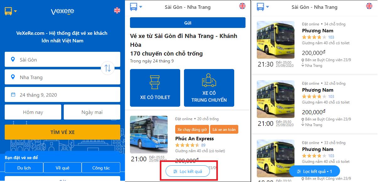 Đặt vé xe Phương Nam đi Nha Trang cực nhanh